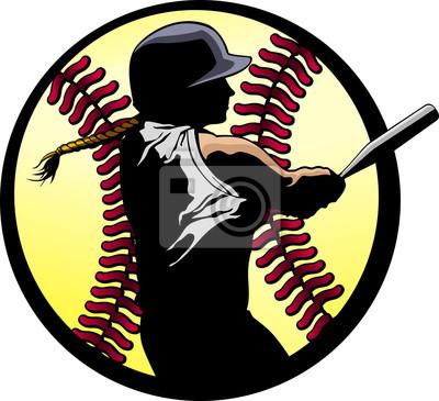 Softball Batter Closeup