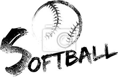 Softball Grunge Streak