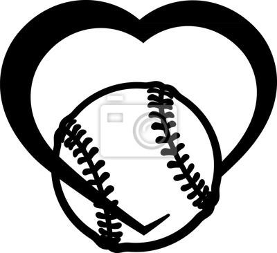 Softball-Herz