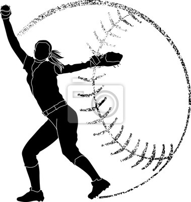 Softball-Silhouette Pitcher