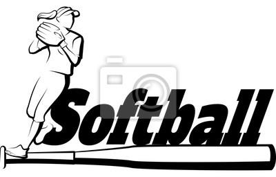 Softball-Spieler, der mit Schläger wirft