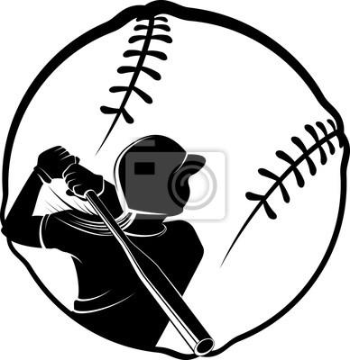 Softball Teig in stilisierten Ball