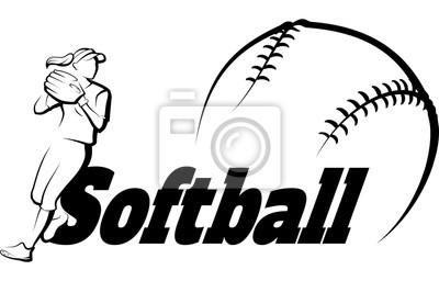 Softball-Wurf mit Textfahne