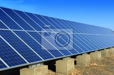 Fototapete Solar Panel Mit Wüste Haus