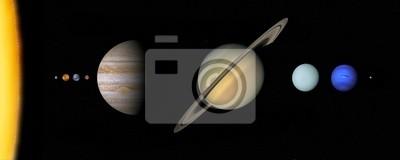 Solarsystem zu skalieren