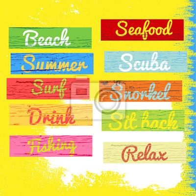 Sommer bunte Holz-Farbe banner