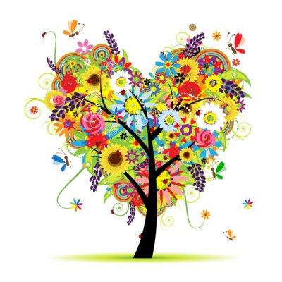 Sommer floral Baum, Liebesherz