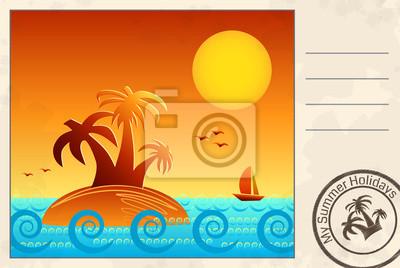 Sommer-Postkarte