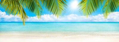 Fototapete Sommer, Sonne, Strand und Meer als Hintergrund