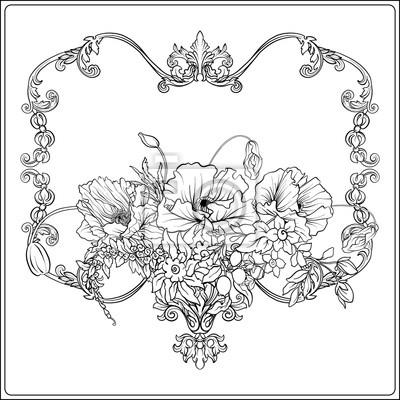 Sommerblumen Mohn Narzisse Anemone Veilchen Im Botanischen