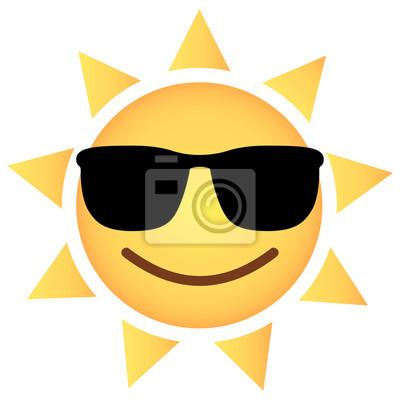 Sonne emoji cool - sonnenbrille fototapete • fototapeten Vektor, Wärme,  amüsiert | myloview.de