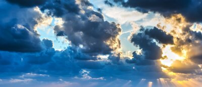 Fototapete Sonne scheint durch die Wolken