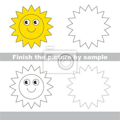 Sonne. zeichnung arbeitsblatt. fototapete • fototapeten Tutorial ...