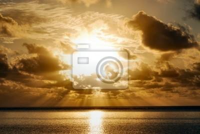 Sonnenaufgang auf Zanzibar Beach, Tansania, Afrika