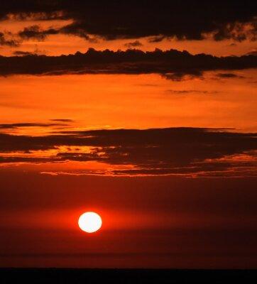 Fototapete Sonnenaufgang im Sommer