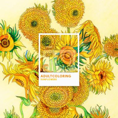 Sonnenblumen 1889 Von Vincent Van Gogh Erwachsene Malvorlagen