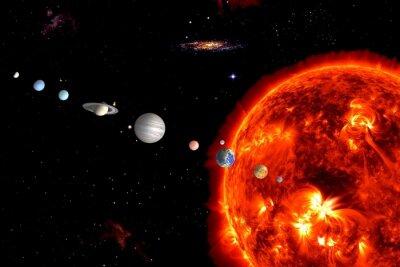 Fototapete Sonnensystem, Elemente werden von der NASA eingerichtet