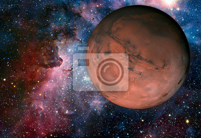 Fototapete Sonnensystem - Mars. Es ist der vierte Planet der Sonne.