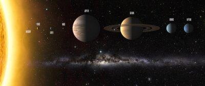 Fototapete Sonnensystem Planeten. Elemente dieses Bildes von der NASA eingerichtet