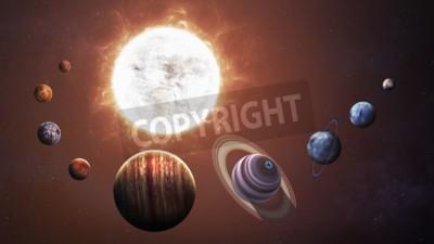 Fototapete Sonnensystem und Raumobjekte. Elemente dieses Bildes von der NASA