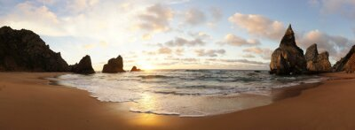 Fototapete Sonnenuntergang am Strand in Portugal