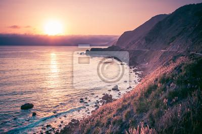 Sonnenuntergang am Strand von Kalifornien