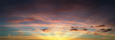 Fototapete Sonnenuntergang Himmel Panorama
