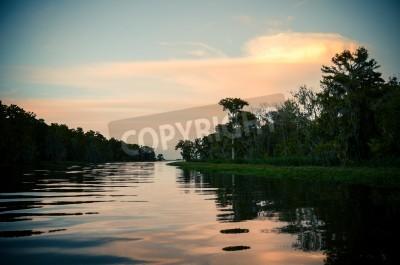 Fototapete Sonnenuntergang über dem Bajou-Hintergrund