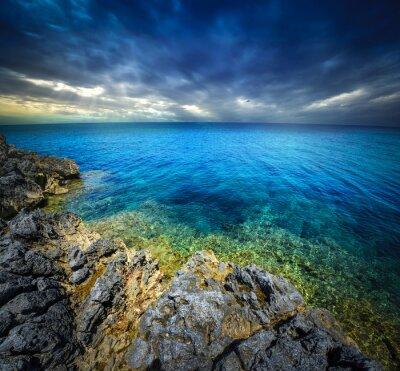 Fototapete Sonnenuntergang und Meer