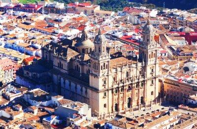 Fototapete Sonnige Ansicht der Kathedrale von Jaen