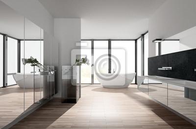 Fototapete Sonniges Modernes Luxus Bad Mit Badewanne