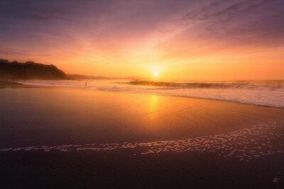 Fototapete Sopelana Strand bei Sonnenuntergang