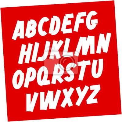 Soviet style Brush font. Editable vector alphabet