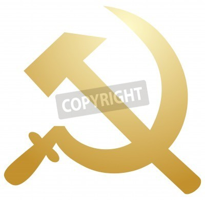 Soviet Ussr Hammer And Sickle Political Symbol Fototapete