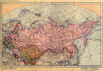 Fototapete Sowjetunion, UdSSR, Karte