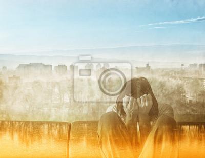Fototapete Soziale Entfremdung Konzept