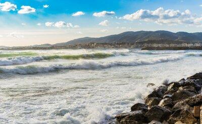 Fototapete Spanien Küste Meer Brandung Wellen