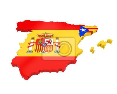 Spanien Katalonien Karte.Fototapete Spanien Und Katalonien Karte Isoliert