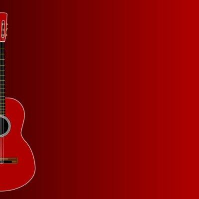 Spanish Acoustic Guitar Dark Red Background