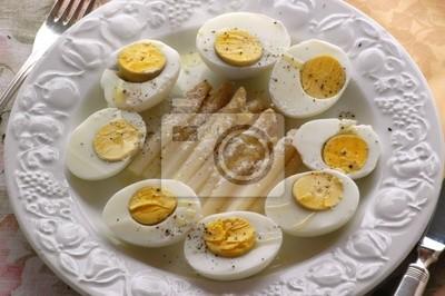 Fototapete: Sparasi e ovi duri - antipasti - cucina del veneto tradizionale