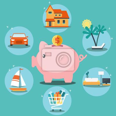 Sparen Sie Geld für Haus - Download Kostenlos Vector, Clipart Graphics,  Vektorgrafiken und Design Vorlagen