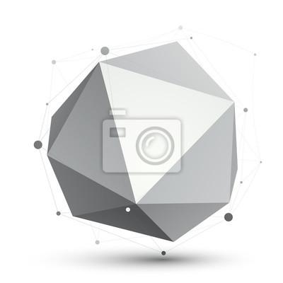 Fototapete Spatial technologische Form, polygonal einfarbig eps8 wirefra