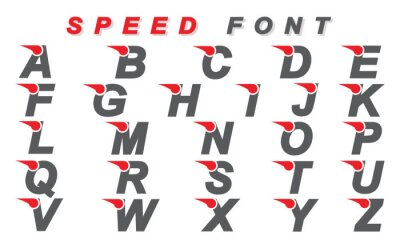 Speed Font Collection - Vector Design