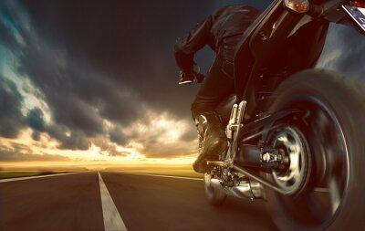 Fototapete Speeding Motorcycle
