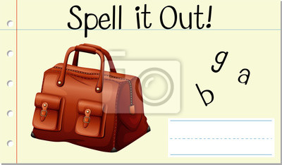 Spell english word bag