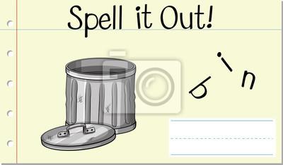 Spell English word bin