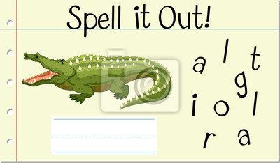 Spell English word crocodile