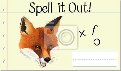 Spell English word fox
