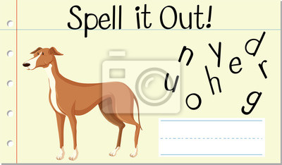 Spell English word greyhound