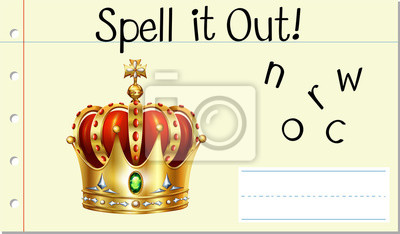 Spell it out crown